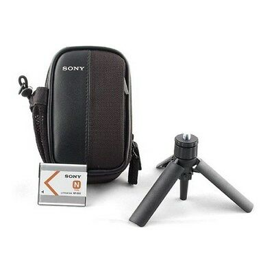 Genuine Sony Cyber Shot Accessories Pack ACC-CTBN (Battery/Carry case/Tripod)