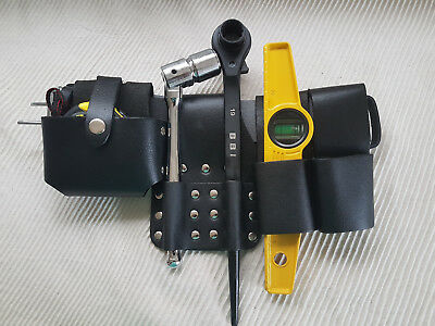 SCAFFOLDING BLACK Leather Belt(Hammer Holder)Full Tool set Black Ratchet 19/21mm