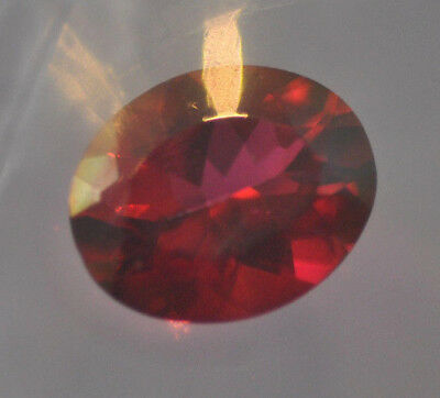 3.70ct Crimson Red Topaz Natural 11mm x 9mm Oval cut New sealed box Beautifully