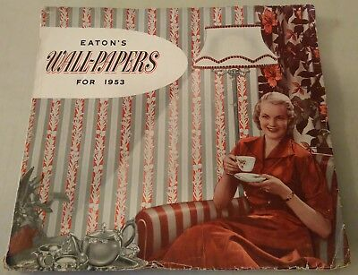 1953 Vintage Eatons Wallpaper Book Samples Catalog