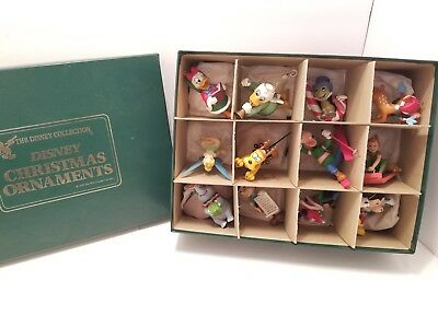 The Disney Collection Disney Christmas Ornaments 1987 - 12 Pcs Total