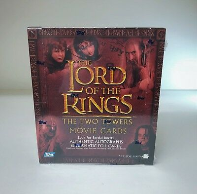 LOTR Lord of the Rings The Two Towers - Sealed Trading Card Retail Box - Topps