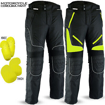Waterproof Cordura Motorcycle Pants Textile Trousers CE Armoured All Sizes Black