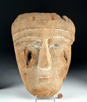 Large Egyptian Wood / Gesso Sarcophagus Mask Lot 5