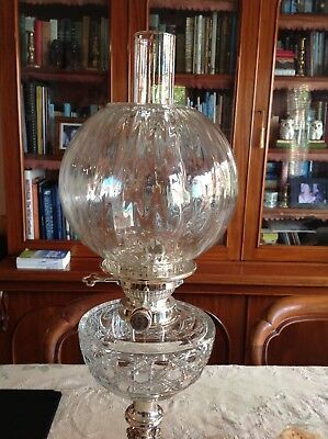 Antique Style Glass Kero Lamp Shade