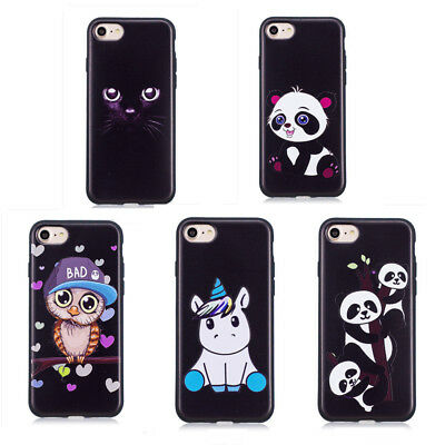Cute 3D Printing Animal Slim Soft Silicone TPU Back Bumper Case Cover for Phones