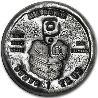 Right to Bear: 1 oz .999 Solid Silver Hand-Poured Art-round - In Stock Now!