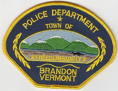 Brandon Vermont Vt Police Shoulder Patch