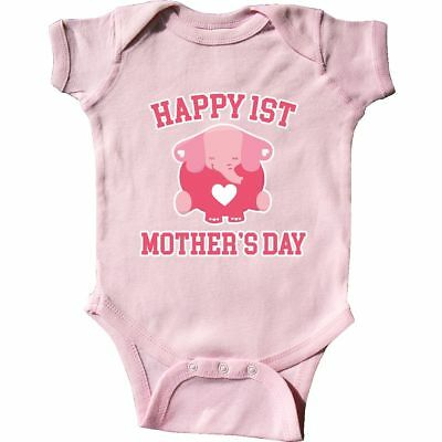 37418ac40 Inktastic Happy 1st Mother's Day With Cute Elephant Infant Creeper Kids  First