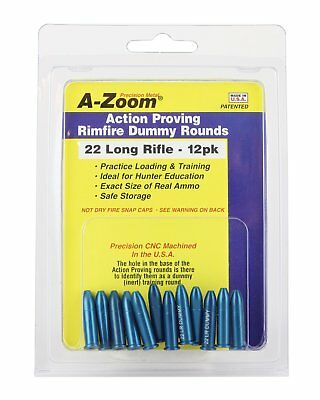 AZOOM 22 LR Action Proving Dummy Rounds (Per 12)