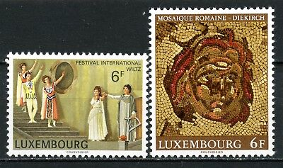 Luxembourg 1977  Scott # 604 & 605  MNH. complete set.