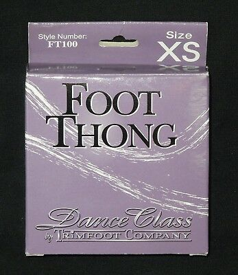 Dance Class Foot Thong by Trimfoot Co – Tan - Size XS Girls 1-3 Style FT100  NEW