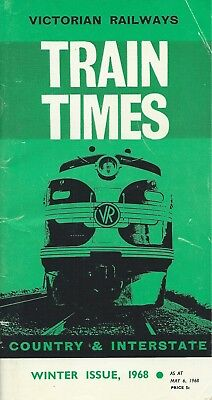 VR Country Timetable May 1968