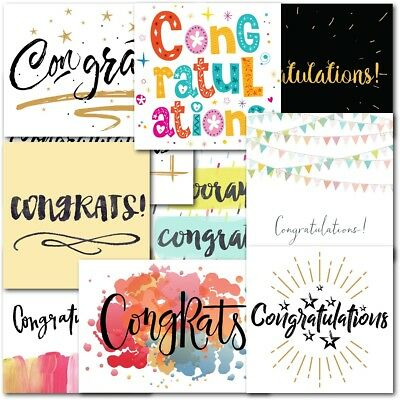 Pack of 20 Mixed Congratulations Premium Greeting Cards Male Female Boys Girls