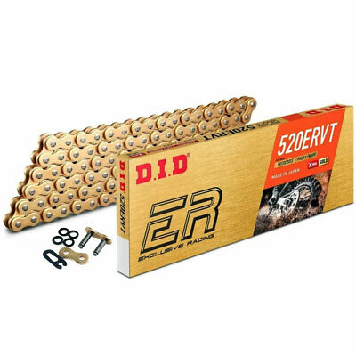 DID 520 VT2 Enduro Racing Narrow X-Ring Chain Gold 520 x 120 Links KTM Husqvarna