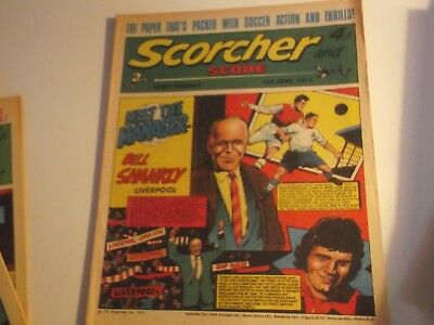 1973 Scorcher And Score Comic Bill Shankly Of Liverpool On The Cover