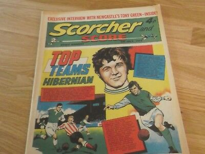 1972 Scorcher And Score Comic Hibernian Football Club Top Teams On Cover