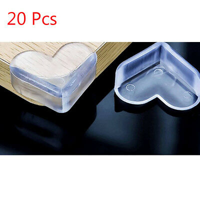 20pcs Child Baby Corner Edge Furniture Protectors Soft Safety Cushion Guard