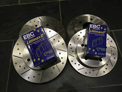Silvia, 200SX S14, S14A, S15 Grooved Brake Discs & EBC UltiMAX Pads, Fnt + Rear