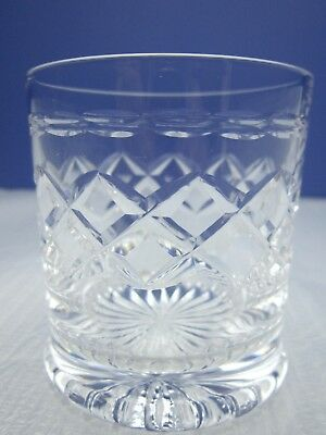 Small Cut Glass Whisky Tot / Glass Holds 100 Mls