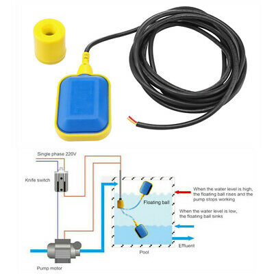 Liquid Water Level Float Switch Sump Tank Controller Sensor W/ 5m Cable