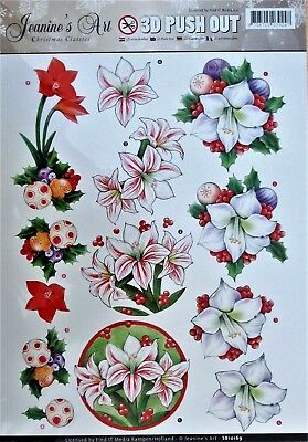 "A4 DIE CUT 3D PAPER TOLE DECOUPAGE /""RED ROMANCE/"" SHEET NO CUTTING EASY DCD576"
