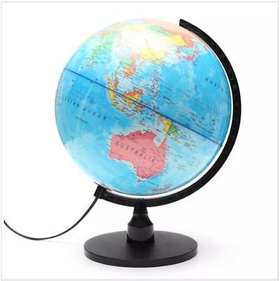 "WORLD GLOBE Rotating Swivel Map of Earth Atlas Geography diameter 25""cm GIFT"
