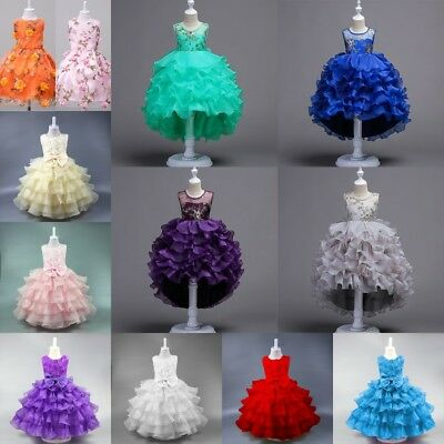 Flower Girl Princess Dress Kid Party Wedding Pageant Formal Tutu Dresses Various