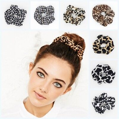 Leopard Velvet Scrunchie Elastic Women Hair Accessories Girls Fashion Hair Bands