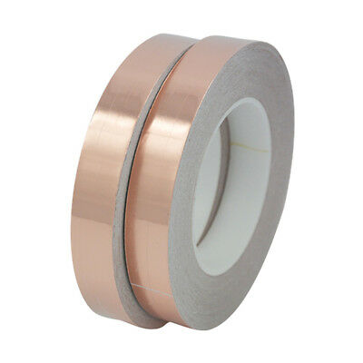 CU Copper Foil Shielding Tape Conductive Self Adhesive Barrier 30M Gold