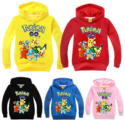 Boys Children Girls Cartoon Hoodies Kids Pikachu Top Clothes Pokemon Go Outfits