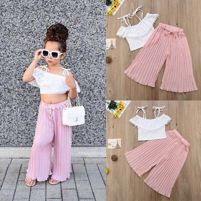 2pcs Newborn Toddler Infant Baby Girl Clothes T-shirt Tops+Long Pant Outfits Set