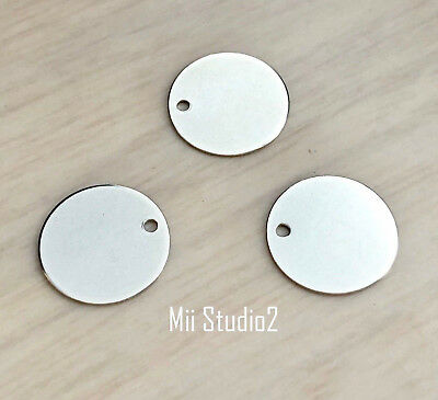 15pcs 11mm Round Disc Sterling Silver925 D05s