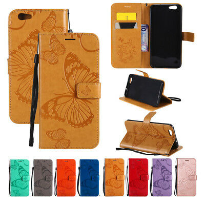For OPPO F5/A73/F1s/A59/A83 3D Butterfly PU Leather Wallet Flip Stand Case Cover
