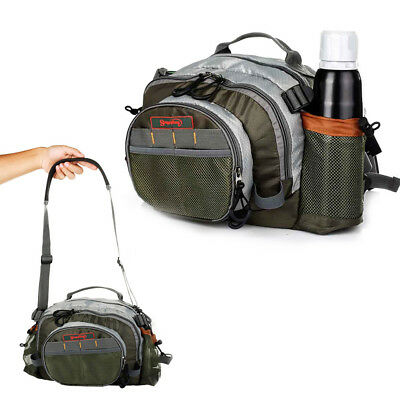 Multi Pocket Fly Lure Bag Fishing Waist Chest Tackle Pack Shoulder Waterproof