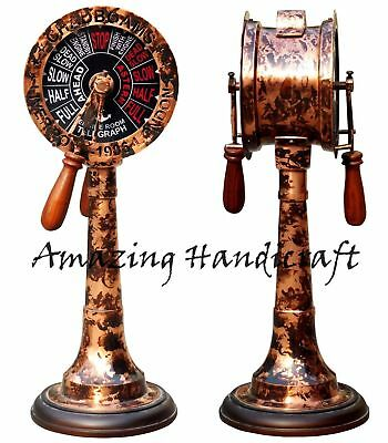 """18"""" Halloween Brass Telegraph With Both Side Sound Bell Maritime Vintage Decor"""
