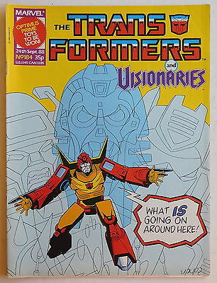 TRANSFORMERS COMIC #184 - 24th September 1988 - Marvel UK, Visionaries