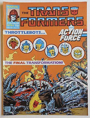 TRANSFORMERS COMIC #154 - 27th February 1988 - Marvel UK, Action Force