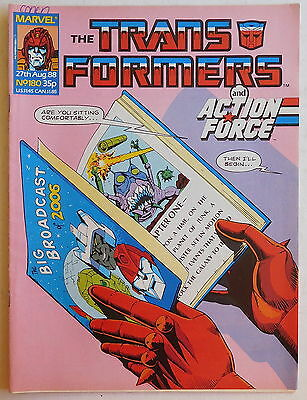 TRANSFORMERS COMIC #180 - 27th August 1988 - Marvel UK, Action Force