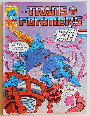 TRANSFORMERS COMIC #196 - 17th December 1988 - Marvel UK, Action Force