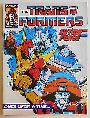 TRANSFORMERS COMIC #181 - 3rd September 1988 - Marvel UK, Action Force
