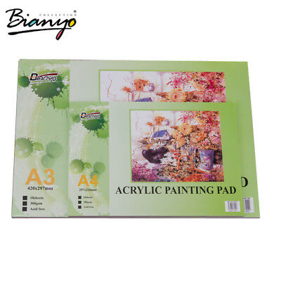 2 Pack A3/A4 Acrylic Painting Paper Pad 300 GSM/10 Sheets