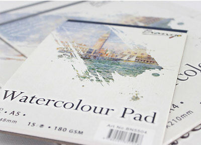 2 Pack A3/A4 Watercolour Painting Paper Pad 180 GSM/15 Sheets