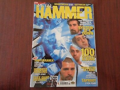 METAL HAMMER Nov 2002_System of A Down_used magazine_zz164_mz9
