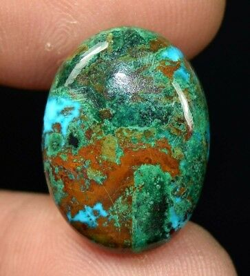 21.45 Cts. Chrysocolla Oval Cabochon Loose Gemstone For Ring Or Pendant