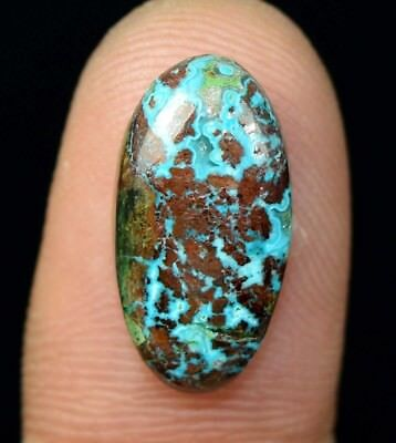 7.10 Cts. Chrysocolla Oval Cabochon Loose Gemstone For Ring Or Pendant