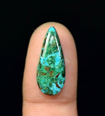10.20 Cts. Chrysocolla Pear Cabochon Loose Gemstone For Ring Or Pendant