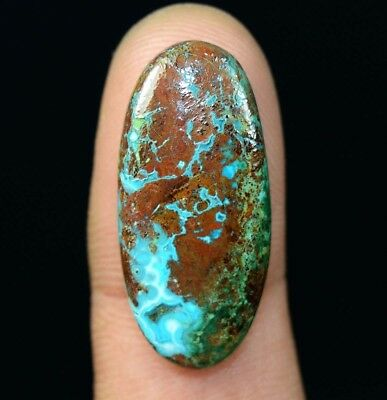 18.95 Cts. Chrysocolla Oval Cabochon Loose Gemstone For Ring Or Pendant
