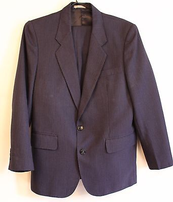 "Small Size, Blue Striped Mens Suit. Original Vintage ""kwun Kee Tailor"""