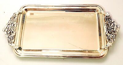 Vintage Style 1980's SILVER PLATED PLATTER / TRAY / DISH